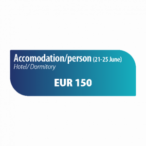 Accomodation/person 21-25th June