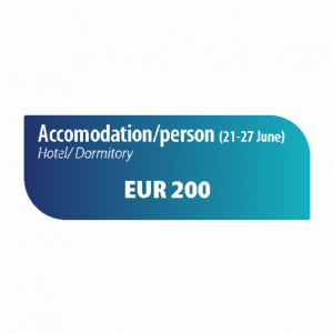 Accomodation/person 21-27th June