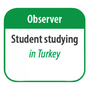 Observer – Student studying (in Turkey)